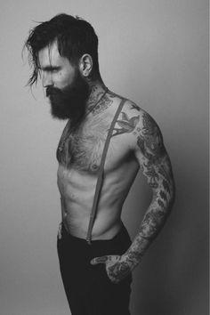 Old School Tattoos & Suspenders - Ricki Hall