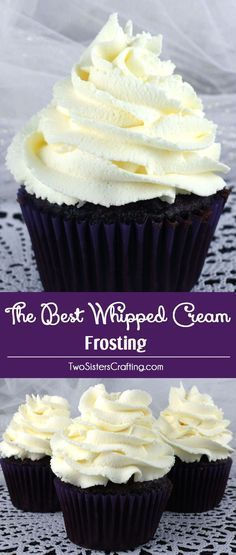 The Best Whipped Cream Frosting - light and airy and delicious and it tastes…