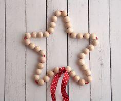 Blog F de Fifi: manualidades, DIY, maternidad, decoración, niños.: Nuevo @tallerdecreactividad: Navidad handmade y sorteo! Estrella con bolas de madera natural