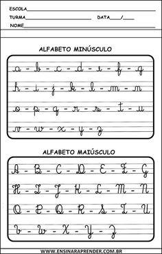 ALFABETO CURSIVO | Cantinho do Educador Infantil