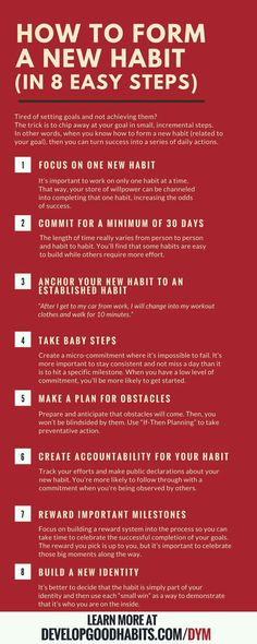 How to form new habits in 8 easy steps
