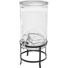 Circle Glass 2 Gal Canned Beverage Dispenser
