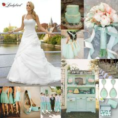 How adorable is this mint colored theme? The wedding dress is from the Ladybird collection www.ladybird.nl