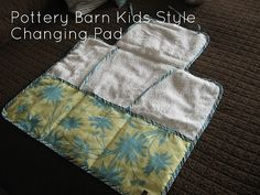 Deluxe baby changing pad with pockets for diapers, wipes, etc.  Tutorial