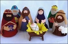 DIY nativity pattern: felt