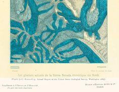 Glacier map - #Vintage Map Art Print  - Antique Geology Print - Antique Book Plate Geology Illustration   Original Print taken from a French Natural History Encyclopedia pub... #vintage ➡️ http://jto.li/qe7aJ
