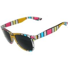 Stained Glass Effect Sunglasses In Yellow with Multi Finish GirlPROPS. $6.99