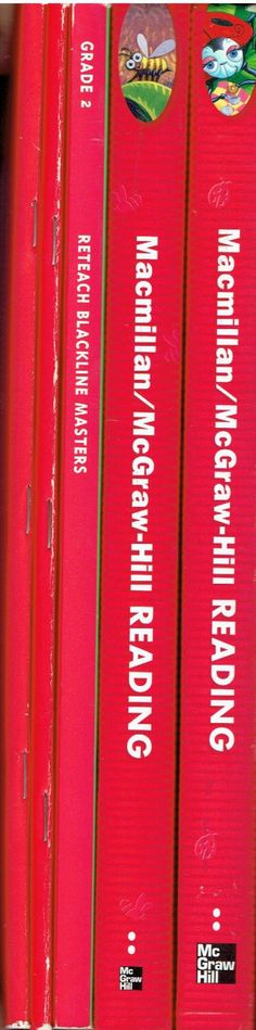 Macmillan/McGraw-Hill Reading 2 set of 5 books workbooks ©2003 2nd grade reading books LA2