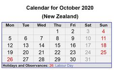 October 2020 New Zealand Calendar with Holidays October Calendar, Calendar 2020, Quote Template, Calendar Wallpaper, All Holidays, Moon Phases, Holiday Festival, Trip Planning, United Kingdom