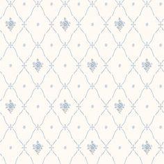 TAPET GAMMELSVENSK NYANS ANNA BLÅ/VIT Paper Wallpaper, Home Wallpaper, Baby Fabric, Ethnic Design, Lattice Design, Textiles, Fabric Paper, Sofa Furniture, Fabric Patterns