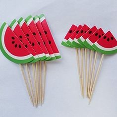 Yunko Summer Watermelon Party Fun Cup Cake Decorative Toppers Cupcake Decorating Tools for Party: 12 Pcs Parties Decorative Cake Toppers Cupcake Decorating Tools Watermelon Birthday Parties, Fruit Birthday, 2nd Birthday Party Themes, Fruit Party, Birthday Cupcakes, Birthday Fun, Cupcake Party, Party Fun, Watermelon Crafts