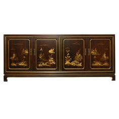 Hollywood Regency John Widdicomb Chinoiserie Credenza (Concealed Wheels) | From a unique collection of antique and modern credenzas at http://www.1stdibs.com/furniture/storage-case-pieces/credenzas/
