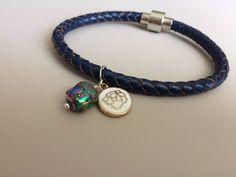 Yoga Gifts - Buddha Bracelet - Buddha Charm Bracelet - Blue Leather Bracelet - Lotus Bracelet - Lotus Charm Bracelet - Charm Yoga Bracelet by LittleGemsByLuisa on Etsy