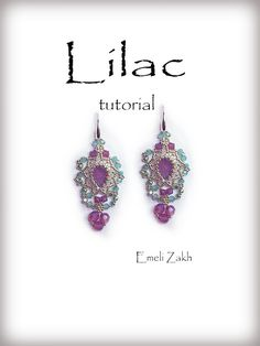 Lilac Beading tutorial.Beaded pattern earrings. ! PDF file containing instructions . di Emeliebeads su Etsy https://www.etsy.com/it/listing/185057135/lilac-beading-tutorialbeaded-pattern