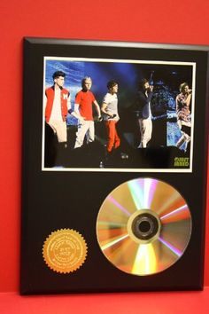 One Direction 24kt Gold Art CD Disc Display – « Holiday Adds