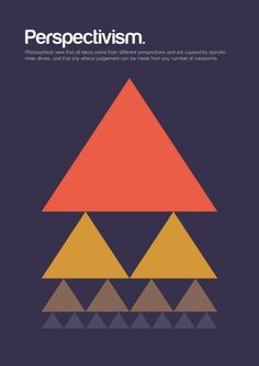 Philographics is all about explaining big ideas in simple shapes, merging the world of philosophy and graphic design.  Perspectivism is a philosophical view that all ideas from different perspectives are caused by specific inner drives, and that any ethical judgement can be made from any number of viewpoints.