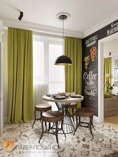 Фото дизайн кухни из проекта «Дизайн проект трехкомнатной квартиры 88 кв.м., ЖК «Северная Долина», американская классика с элементами LOFT»