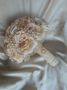 ELEGANT ROSE GOLD Brooch Bouquet - Deposit for this Custom Brooch Bouquet - Elegtant Blush & Rose Gold Bouquet, Brooch Bouquet, Bouquet by Elegantweddingdecor on Etsy https://www.etsy.com/listing/193335333/elegant-rose-gold-brooch-bouquet-deposit