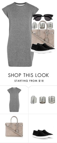"""Style #10148"" by vany-alvarado ❤ liked on Polyvore featuring Alexander Wang, Topshop, Yves Saint Laurent and rag & bone"