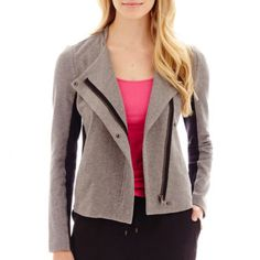 a.n.a® French Terry Moto Jacket  found at @JCPenney