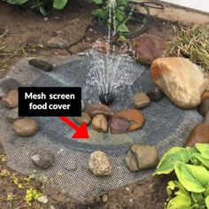 One Of The Easiest And Coolest Diy Water Features Pretty Purple Door Modern Water Feature, Diy Water Feature, Outdoor Water Features, Backyard Water Feature, Water Features In The Garden, Ponds Backyard, Backyard Waterfalls, Garden Ponds, Koi Ponds