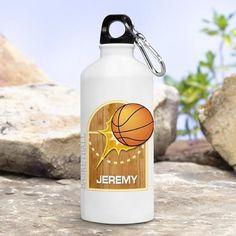 Kid's Sports Water Bottles - Basketball
