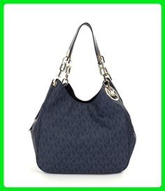 MICHAEL Michael Kors Fulton Signature Large Hobo Tote Bag Baltic Blue - Shoulder bags (*Amazon Partner-Link)