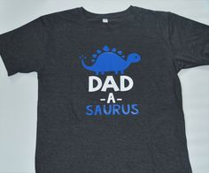 "Parent Birthday Party Shirt // ""Dad-a-Saurus"" Dinosaur Birthday // Made To Order by BeausAndBowsBoutique on Etsy"