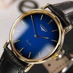 LONGINES QUARTZ BLUE DIAL MEN'S SWISS VINTAGE RARE ANTIQUE USED WATCH #Longines #LuxuryDressStyles