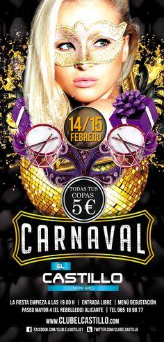 Carnaval El Castillo Movie Posters, Movies, Mardi Gras, Castles, Fiestas, 2016 Movies, Film Poster, Films, Popcorn Posters