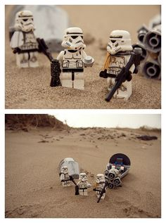 """""""Look sir, droids."""" I love it when famous movie scenes are recreated with Legos. ^__^ <--- ditto"""