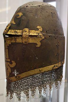 Kornburg Helm (mid 14th C) - painted helm