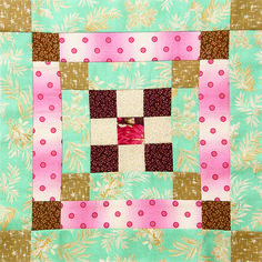 Alabama Block made with Gabrielle by Mary Koval for Windham Fabrics