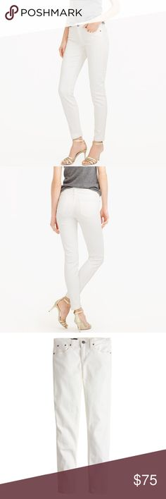 "Jcrew Toothpick Jeans Pristine condition. Never worn. Sits at hip. Midrise. Fitted through hip and thigh, with a superskinny, ankle-length leg. Front rise: 8 3/4"". 28"" inseam. 10 3/4"" leg opening (based on size 28). J. Crew Pants Skinny"