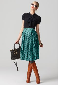 Perfect fall/winter skirt! And my new boots would be perfect with it!