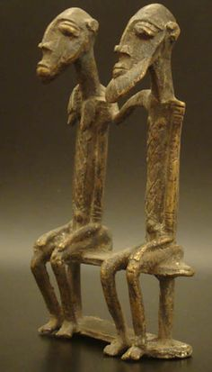 Type of object: Bronze couple Ethnic group: Dogon Country of origin: Mali Measurement: x x cm Materials: Bronze, made with the lost-wax casting method Weight: 368 grams Overall condition: Excellent Damage, Repair: None Ghana, Statues, African Sculptures, Art Africain, Africa Art, African Masks, Tribal Art, Art And Architecture, Folk Art