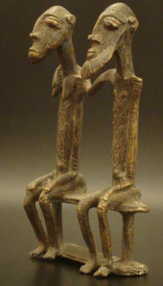 Tribal Art Treasures Metal Figures Dogon Couple