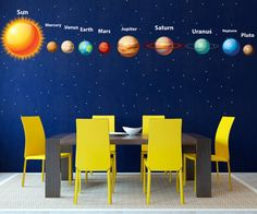Hey, I found this really awesome Etsy listing at https://www.etsy.com/listing/196416700/solar-system-wall-decal-planet-space
