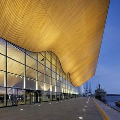 Kilden performing arts centre by ALA Architects. A theater and concert hall on Odderøya in Kristiansand, Norway. A As Architecture, Commercial Architecture, Beautiful Architecture, Frank Gehry, Zaha Hadid, Facade Lighting, Brick And Stone, Waterfront Homes, Concert Hall
