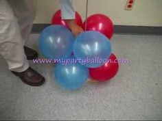 how to make balloon column