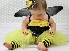 Bumble Bee Tutu  1st Birthday Tutu set BEE 7 by VioletsVelvetBox, $49.50