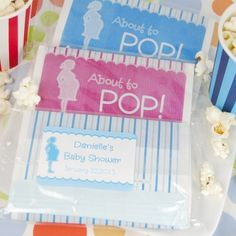 About to Pop - popcorn Baby Shower favors