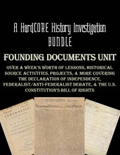 Over a week's worth of incredible lessons and projects! The Founding Documents History bundle includes 3 engaging and challenging lessons along with the 3 day long Founding Father's Video Chat Project to assess your students' mastery of important historical concepts and writing skills. With an emphasis on research, students will investigate Declaration of Independence, Federalist/Anti-Federalist Debate, and the Bill of Rights.