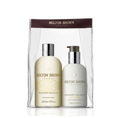 Molton Brown Coco de Mer Duo set by Molton Brown. $42.00. Coconut fruit with honey and tonka beans. Sometimes gently, does it. This subtly fragranced body wash and body lotion duo cleanses and conditions the skin leaving it silky soft. Smooth. Flawless. Comforting.