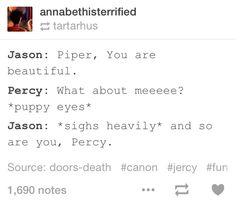 I started to like Jason a lot more after he and Percy started the bromancing. ;)