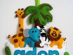 Safari Made-to-order personalised felt name banner by InaSudjana