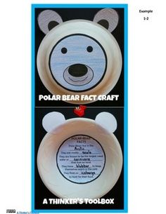 This Polar Bear Fact Craft by A Thinker's Toolbox is a great and creative way to help your students learn about polar bear facts. Included are Polar Bear Fact Craft Directions, Polar Bear Fact Craft Examples and templates for K-1 and 1-2, Polar Bear Ears, and  Answer Key.