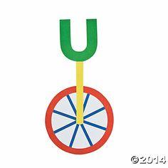 """U Is For Unicycle"" Letter U Craft Kit - Discontinued Preschool Letter Crafts, Alphabet Letter Crafts, Abc Crafts, Preschool Projects, Daycare Crafts, Classroom Crafts, Alphabet Activities, Preschool Ideas, Classroom Ideas"