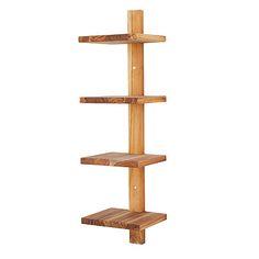 UncommonGoods: minimalist teak wall shelf... for $75 #uncommongoods