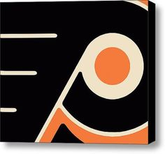 Philadelphia Flyers on Stretched Canvas by RubinoFineArt on Etsy, $70.00
